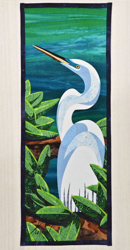 Great Egret Wall Hanging, Complete