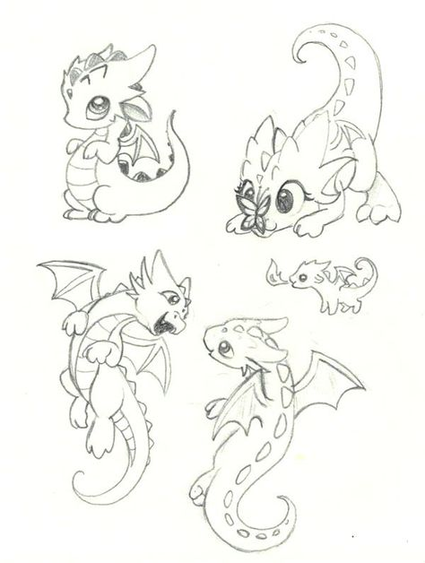 Baby Dragon Poses