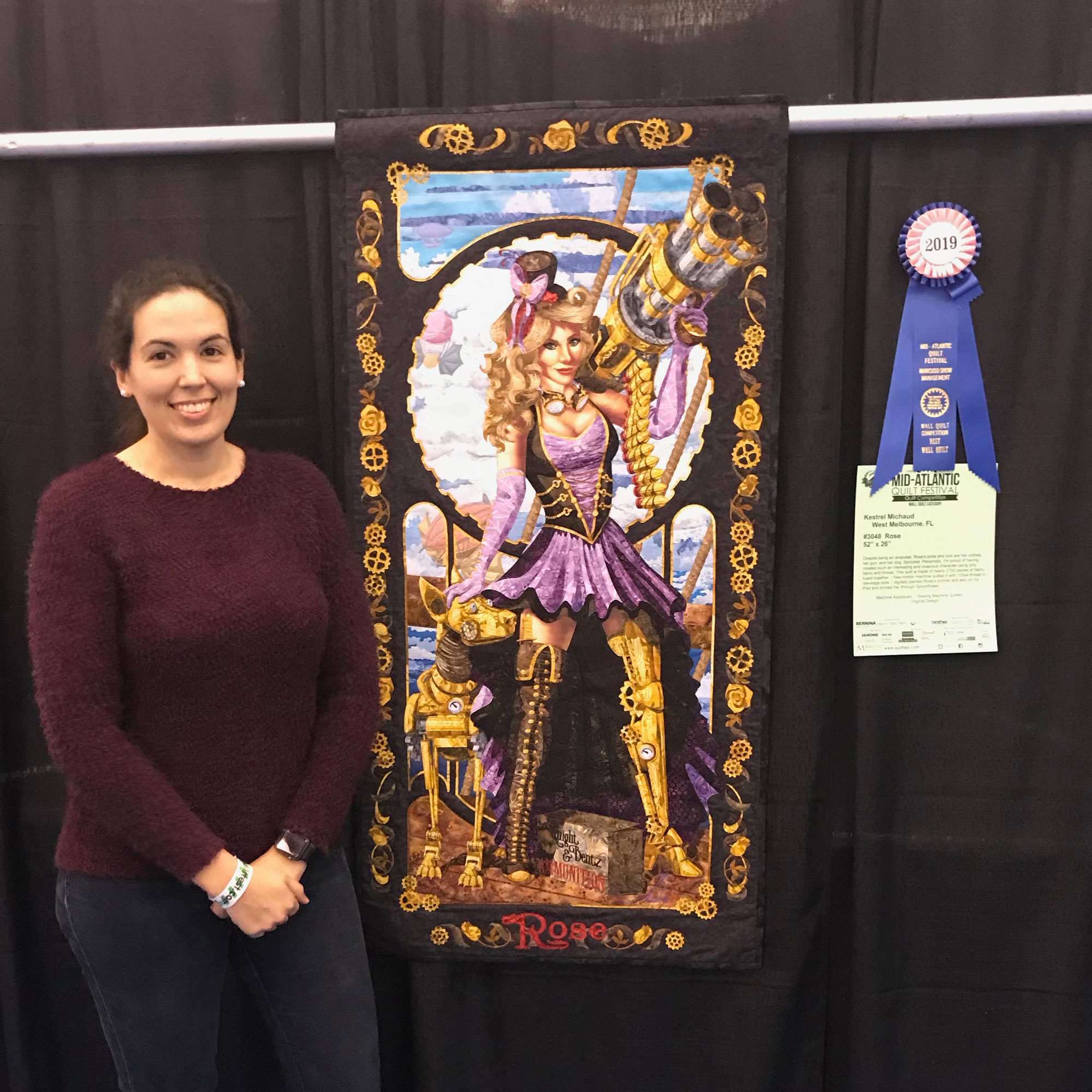 Rose at the Mid-Atlantic Quilt Festival