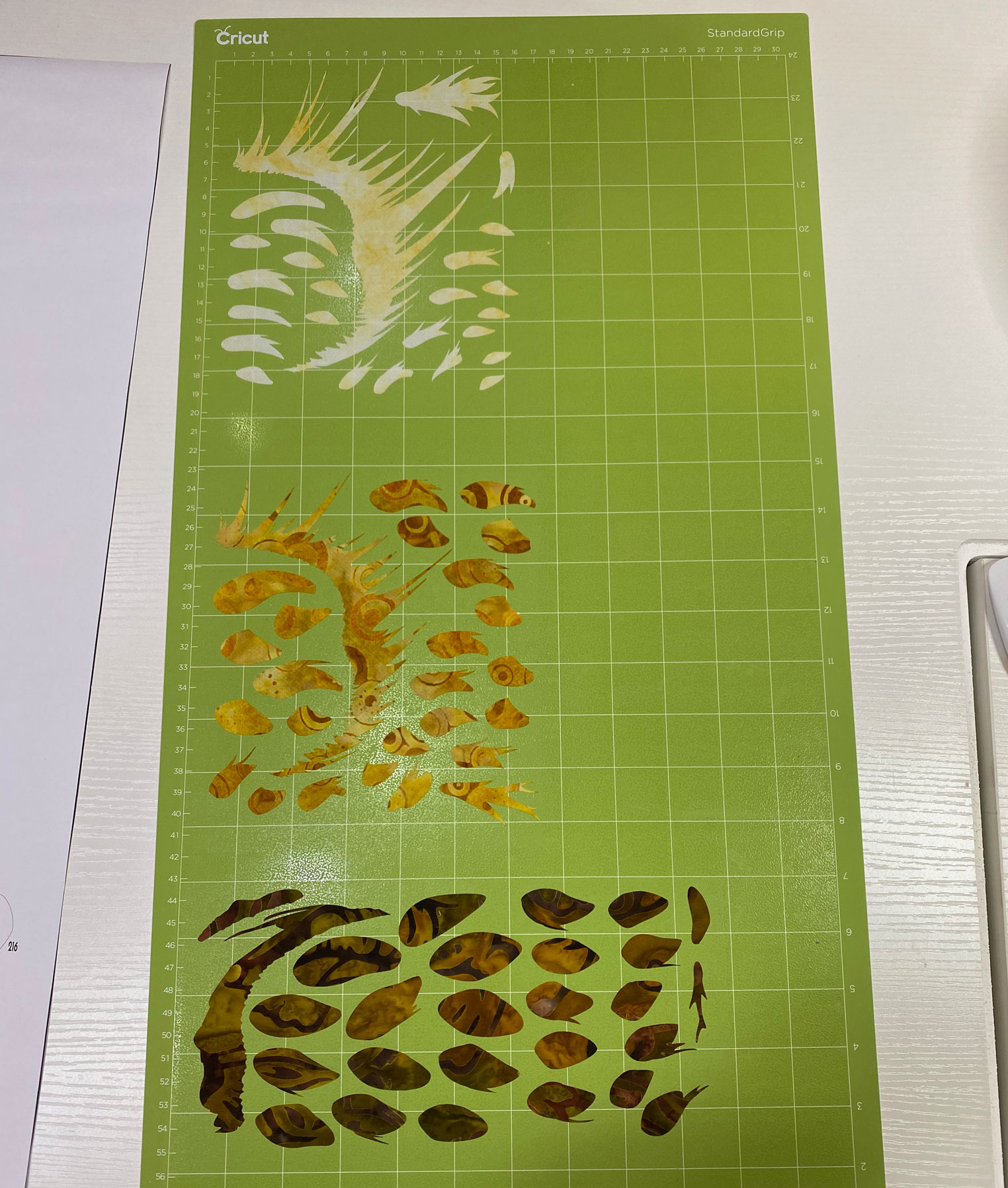 Cricut cut pieces of fabric