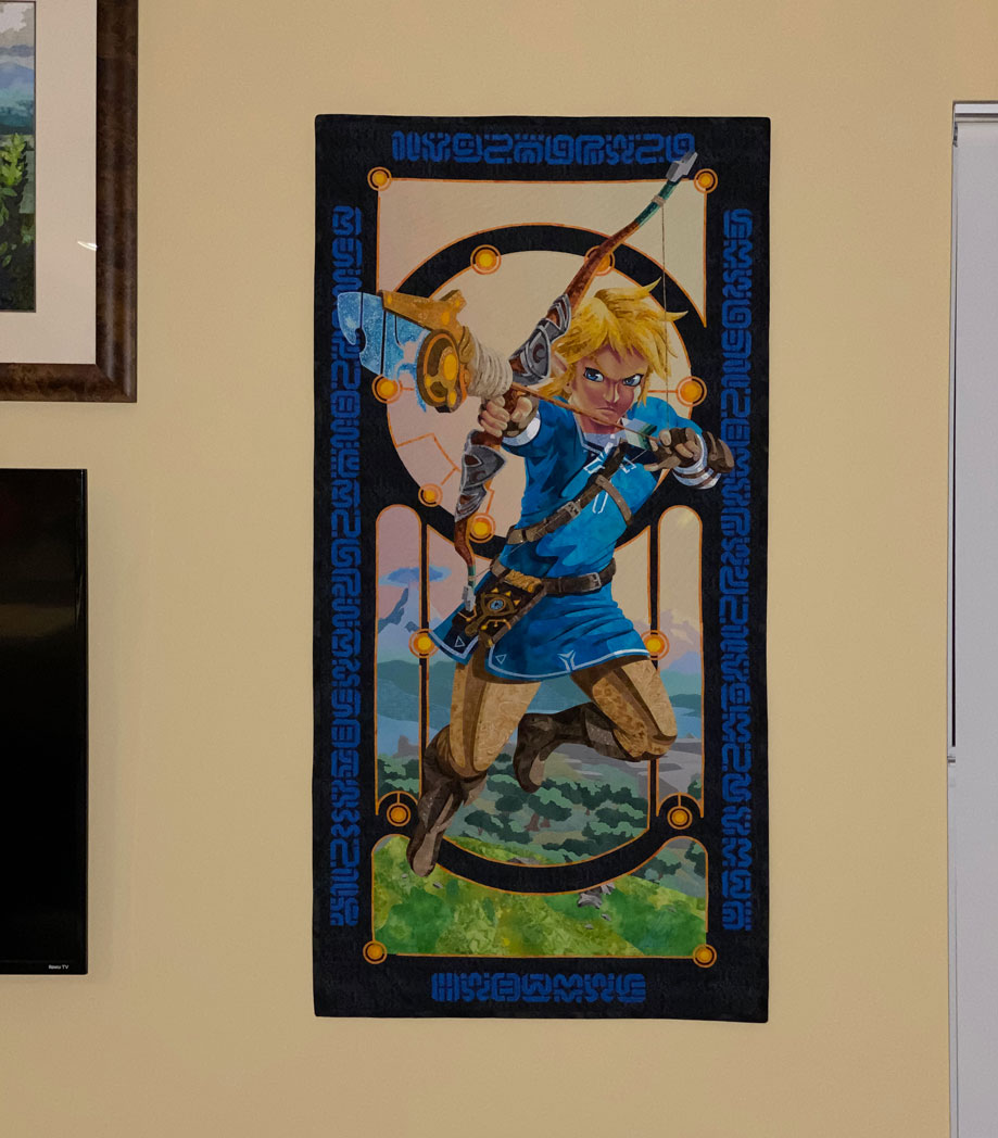 Link hanging on my living room wall