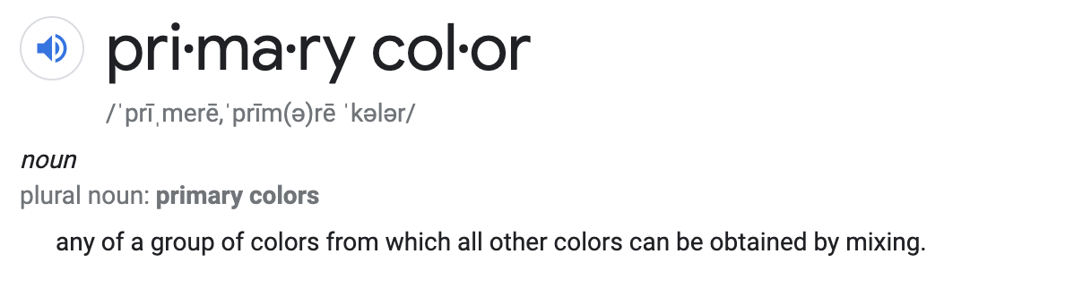 Primary Color Definition