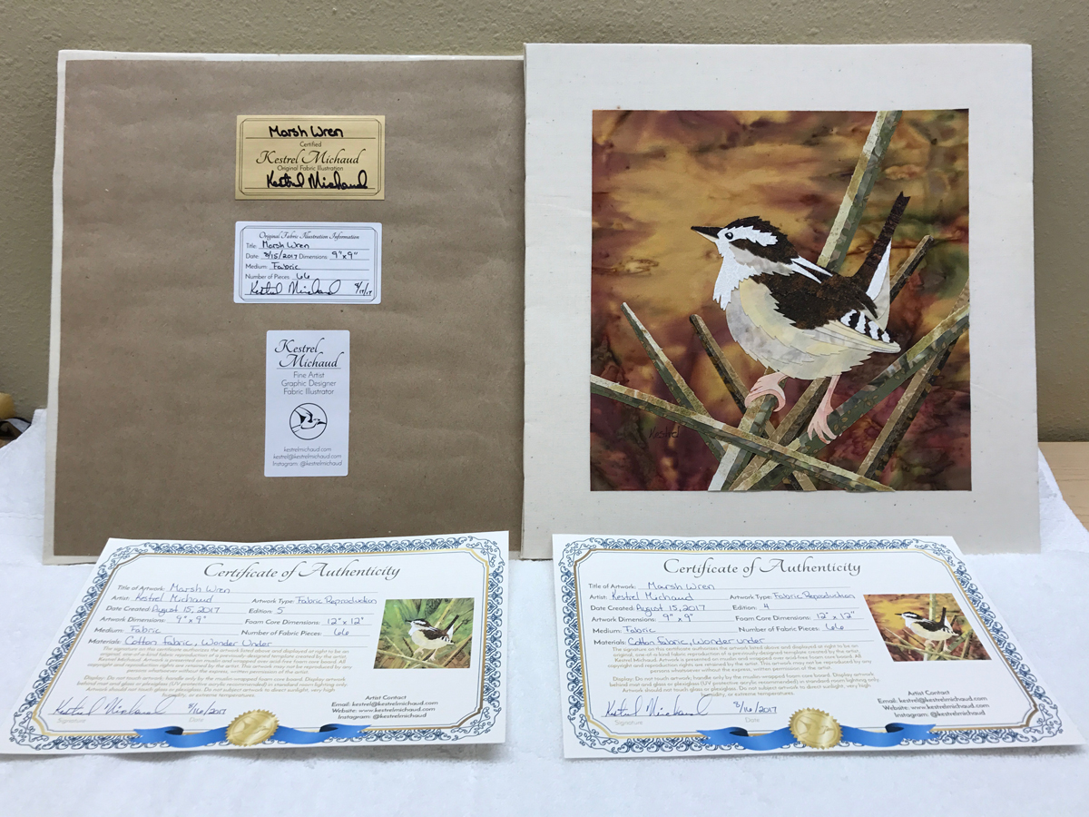 Purchasing information certification stickers and certificate of authenticity for marsh wren xflitez Image collections